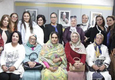 """النساء الحركيات يؤكدن انخراطهن في العمل التحسيسي وترسيخ روح التضامن للتصدي لحائحة """"كوفيد 19"""""""